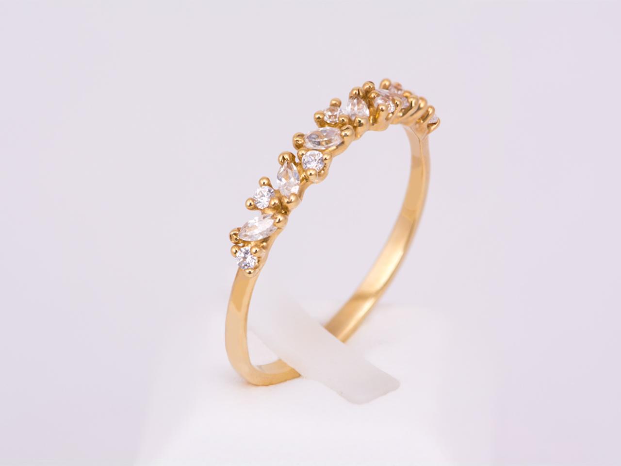 Δαχτυλίδι σειρέ χρυσό Κ14 με ζιργκόν  129d06d40b0