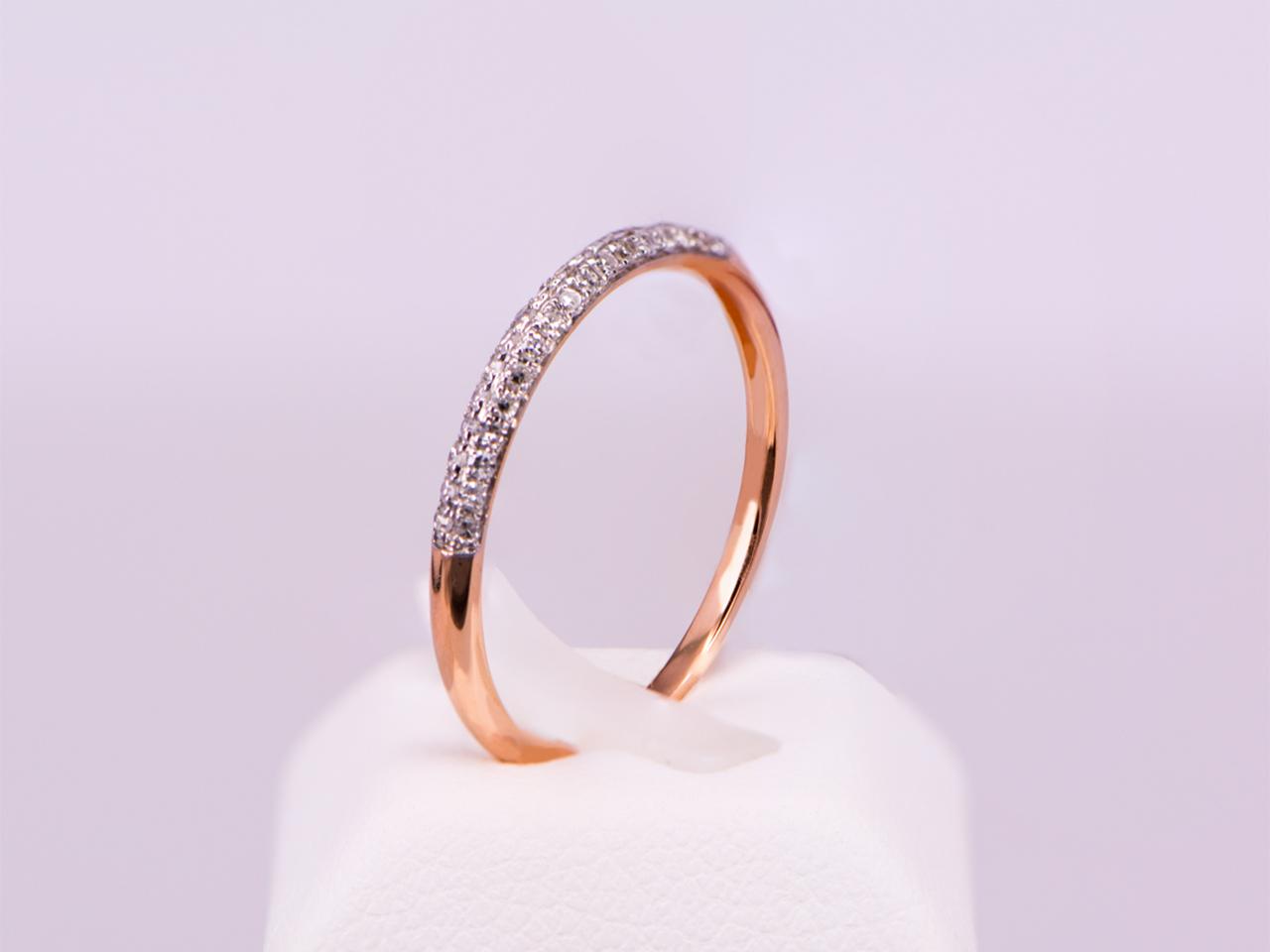 70b6dd83de Δαχτυλίδι σειρέ ροζ χρυσό Κ18 με διαμάντια