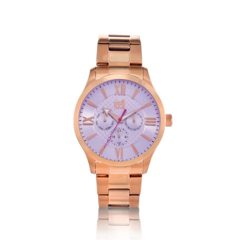 Visetti- Premiere- multifunction- rose gold- stainless- steel- bracelet