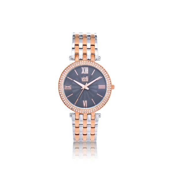 Visett-i Prestige -Multifunction- rose- gold- silver -stainless- steel- bracelet