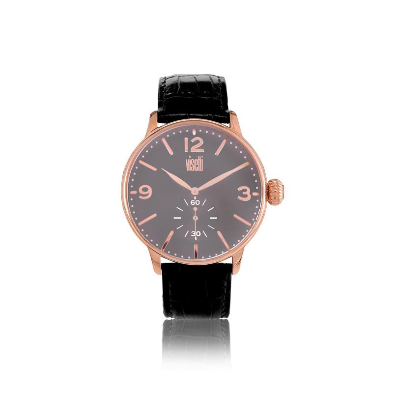 Ρολόι Visetti Aviator Black Leather Strap  68a7d8624ff