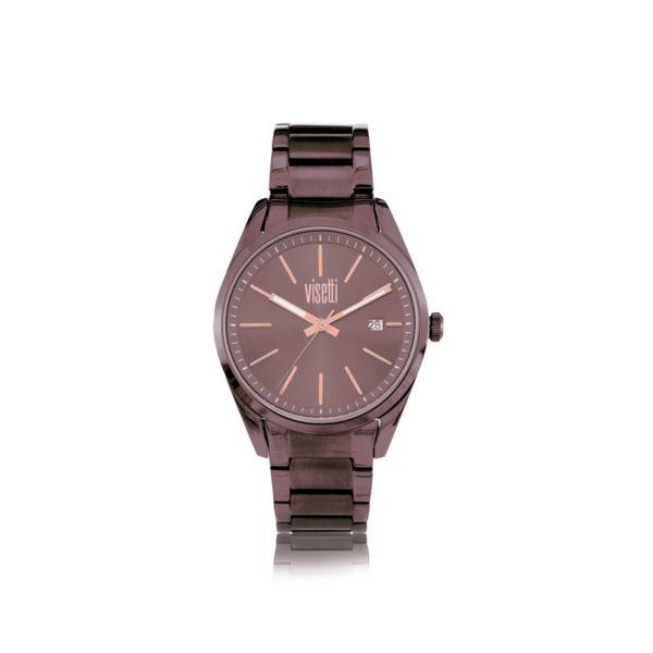 visetti- Monroe- brown- stainless- steel- bracelet