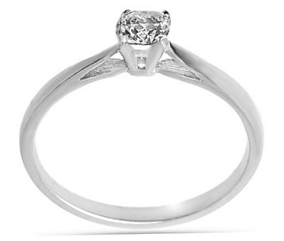 Μονόπετρο δαχτυλίδι Κ18 λευκόχρυσο διαμάντι  55697006eb0
