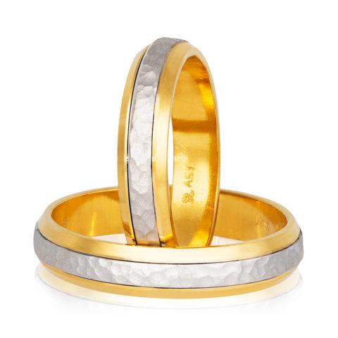 βέρες γάμου Stergiadis δίχρωμο χρυσό Κ14