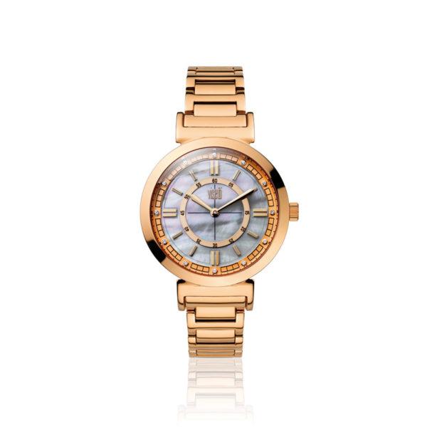 visetti- bella di- notte- rose- gold -steel -bracelet