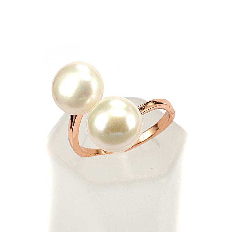 Δαχτυλίδι μαργαριτάρι ροζ επιχρυσωμένο ασήμι 925-8202  173b2d18fd4
