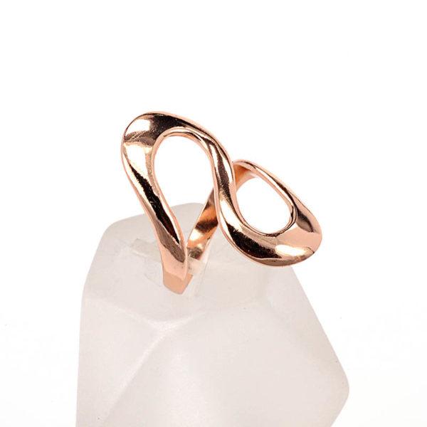 δαχτυλίδι ροζ επίχρυσο ασήμι 925 4494