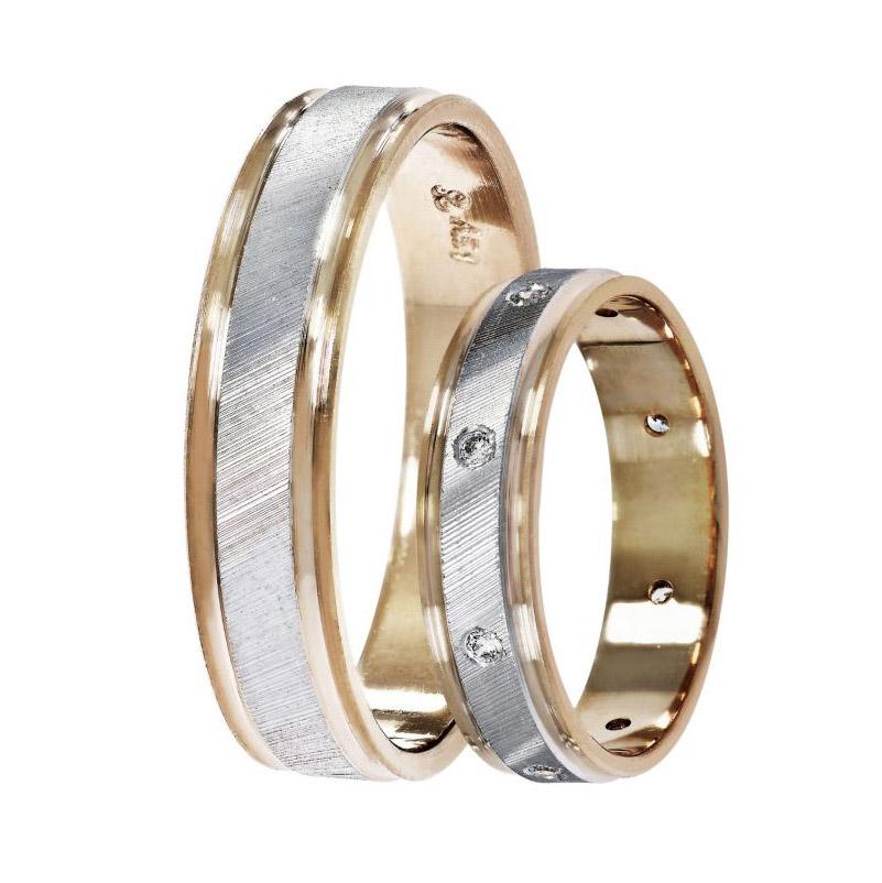 3bc5218acf20 Βέρες γάμου Stergiadis δίχρωμο ροζ χρυσό Κ14 SAT-11rw543 ...