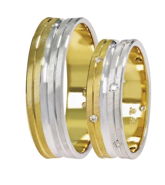 65bdf90f9283 Βέρες γάμου Stergiadis δίχρωμο ροζ χρυσό Κ14 SAT-14-rw558 ...