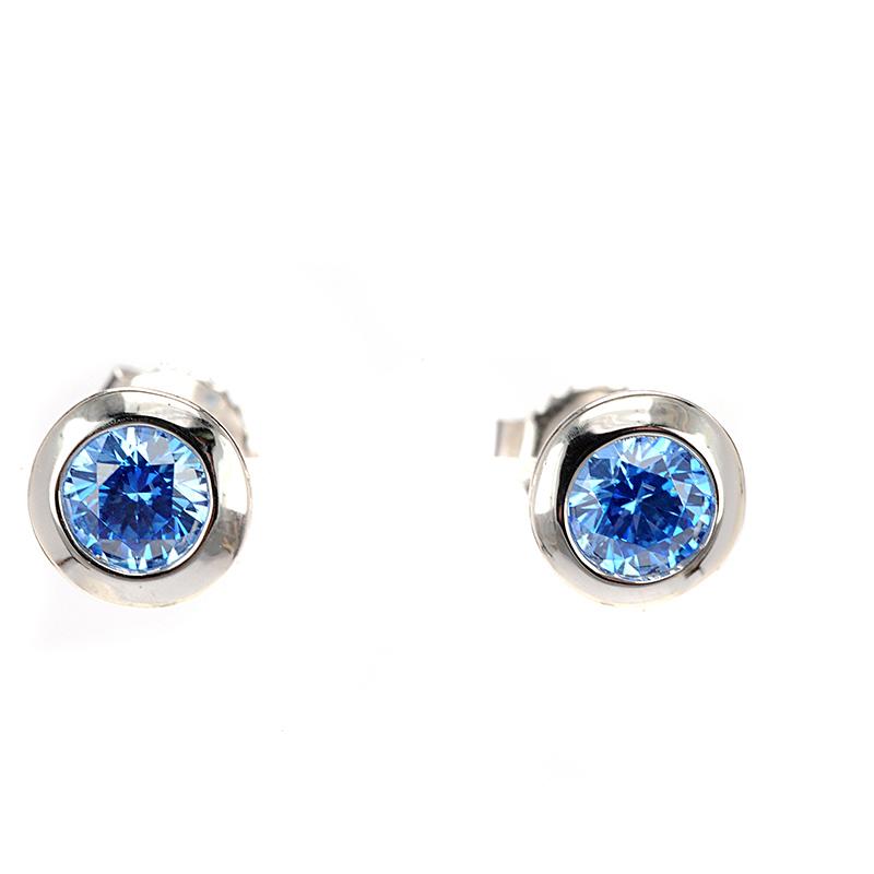 Σκουλαρίκια μπλε swarovski ασήμι 925 4458  a32b3ced3f6
