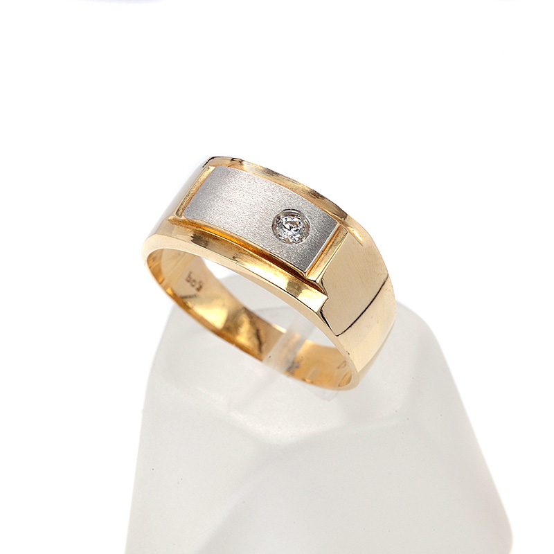 Δαχτυλίδι ανδρικό δίχρωμο χρυσό Κ14 7718  16c440b723b