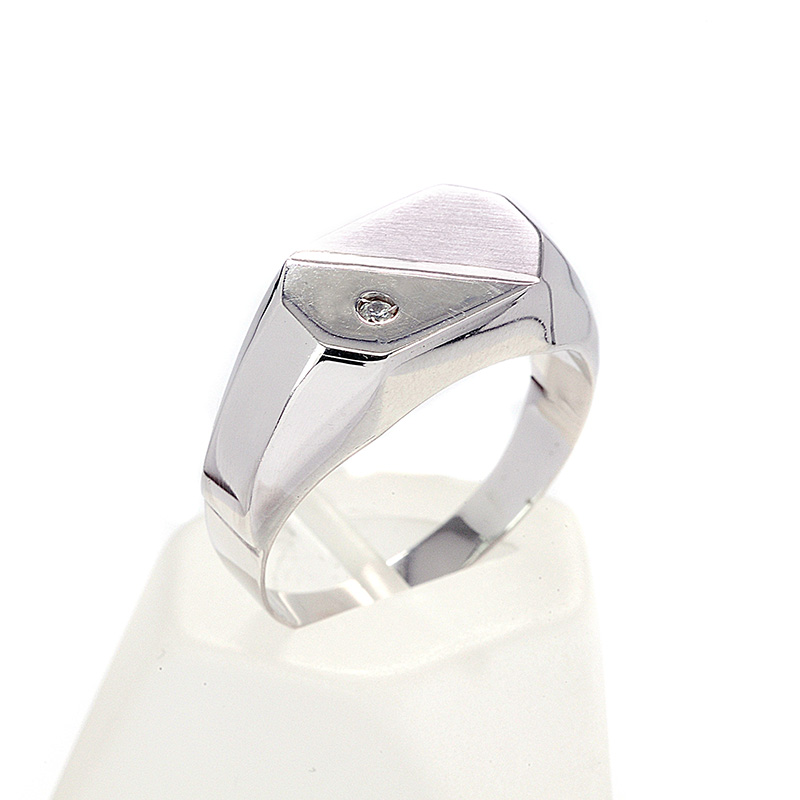 Δαχτυλίδι ανδρικό λευκόχρυσο Κ14 7743  89164c75a1d