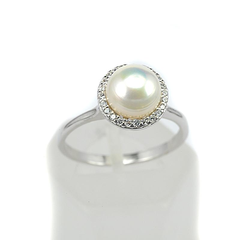 Δαχτυλίδι πέρλα ασήμι 925 ζιργκόν 8155  213c2907fdf