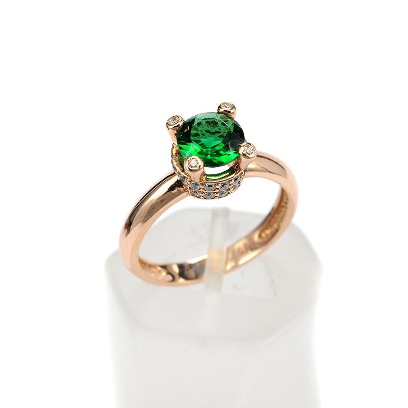 Μονόπετρο δαχτυλίδι χρυσό Κ14 με ζιργκόν 8215  c72ea4c4237