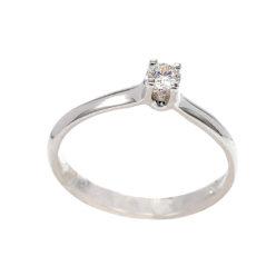 μονοπετρο δαχτυλίδι λευκόχρυσο κ18 διαμάντι 8458