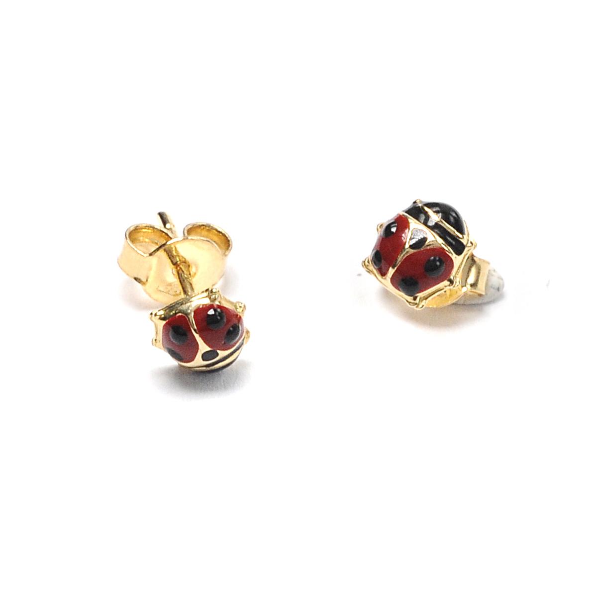 Σκουλαρίκια πασχαλίτσα χρυσό Κ14 4207  ac784119dce