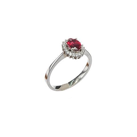 δαχτυλίδι ροζέτα ρουμπίνι daxtylidi rozeta roumpini diamantia 4118