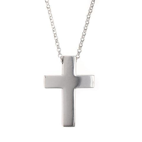 κολιέ σταυρός ασήμι 925 1736