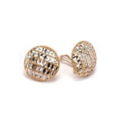 Σκουλαρίκια ροζέτα μαργαριτάρια χρυσά k14 1909