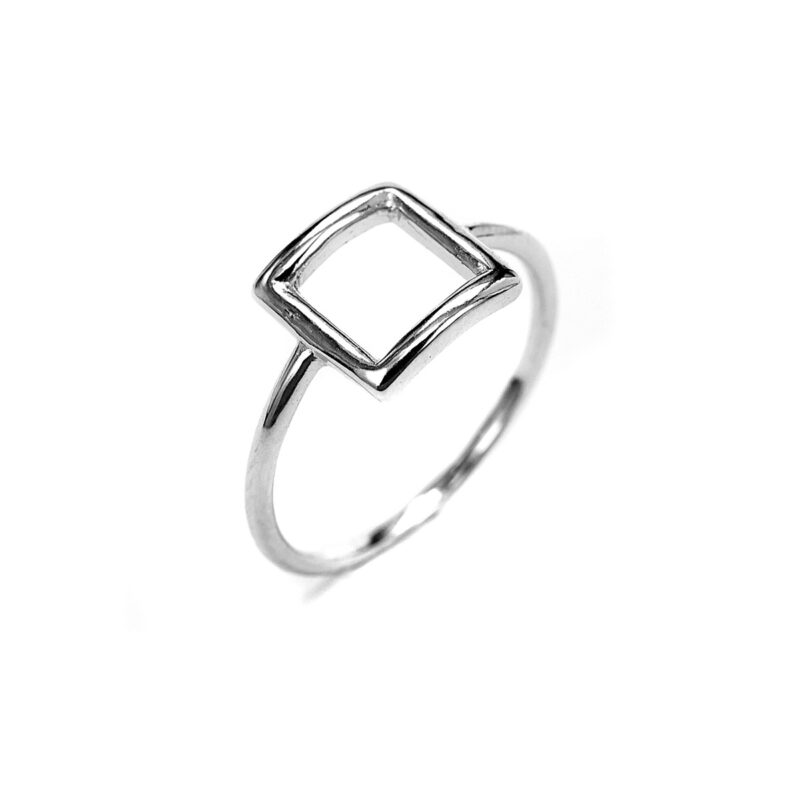 Μίνιμαλ δαχτυλίδι τετράγωνο