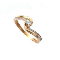 Μονόπετρο δαχτυλίδι χρυσό κ14 ζιργκόν 4933